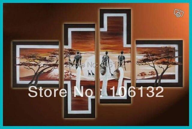 Aliexpress.com : Buy Framed 4 Panel Huge High End Stunning 4 Piece ...