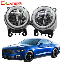 Cawanerl For Ford Mustang 2005 2006 2007 2008 2009 2010 2011 2012 2013 Car Styling 4000LM LED Bulb Fog Light + Angel Eye DRL 12V