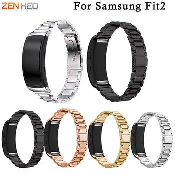 Luxury Stainless Steel Watch Strap Wrist band for Samsung Galaxy Gear fit 2 SM-R360 Smart Watch Bracelet For Gear fit 2 Strap