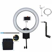 Nanguang CN-R640 Fotoğrafçılık Kamera Fotoğraf/Video 640 LED Makro 5600 K Dim 'Z'Bracket Ile Halka Işık Kiti/Çanta Telefon/Kamera