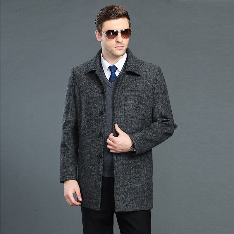 Man Trench Coat Wool Coat Winter Peacoat Men's Wool Coat Mens Overcoat Men's Coats Male Clothing S-4xl(China)
