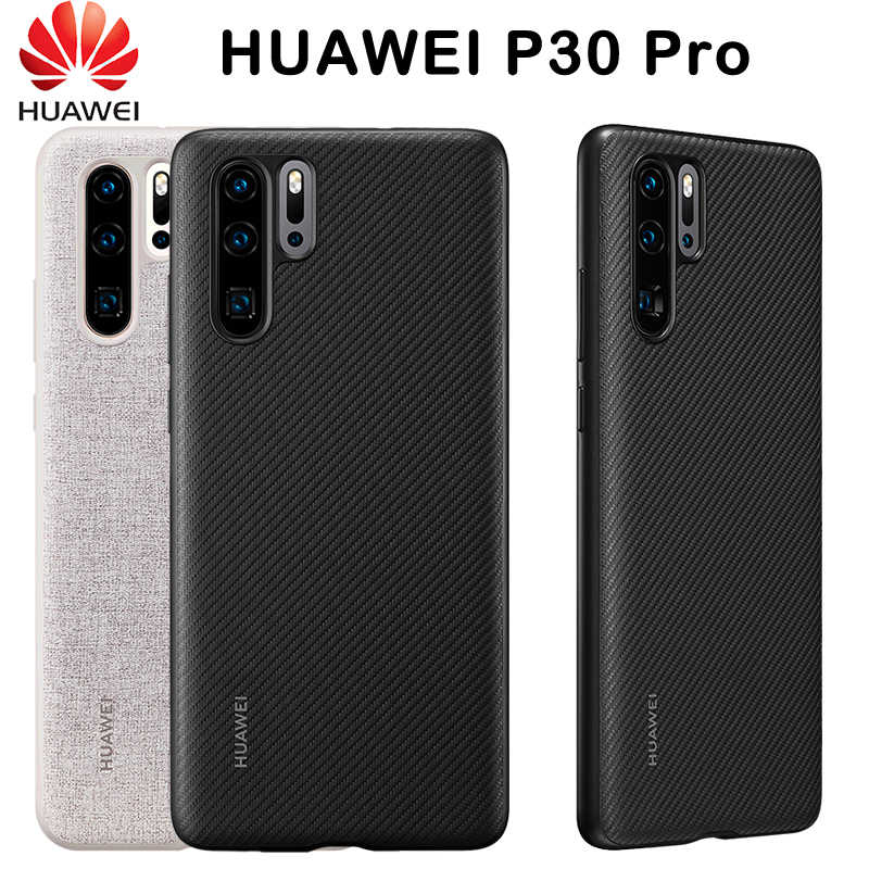 Official Original HUAWEI P30 Pro Case Full Cover Prevents Fingerprints Microfiber Fiber Leather HUAWEI P30 Case Back Cover
