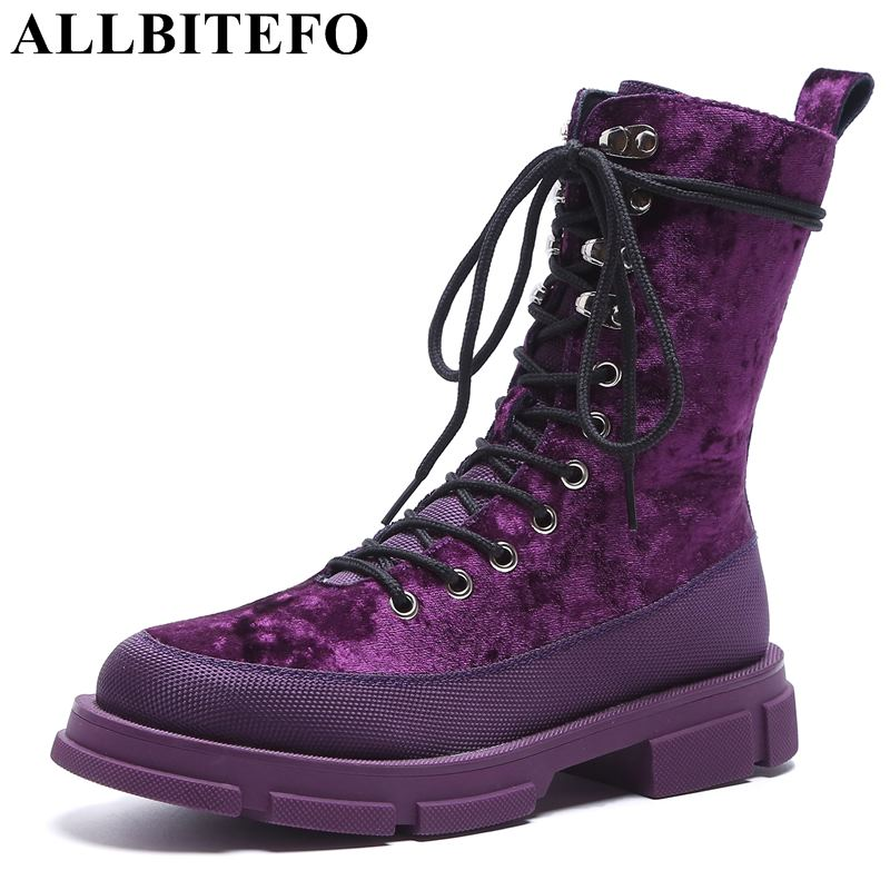 allbitefo brand genuine leather super high heel ankle women boots fashion sexy ladies girls martin boots motocycle boots shoes ALLBITEFO new fashion brand genuine leather thick heel women boots ankle boots women martin boots ladies girls shoes for woman