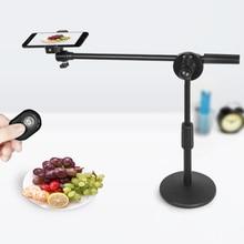 צילום סטודיו טלפון ירי מתכוונן שולחן עבודה סוגר Stand בום זרוע ערכות 35W LED אור מנורת יופי תמונה/חי וידאו