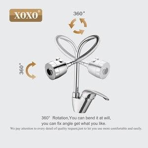 Image 5 - XOXO פליז מיקסר ברז קר וחם במטבח מים ברז מטבח כיור ברז תכליתי מקלחת מכונת כביסה 2262