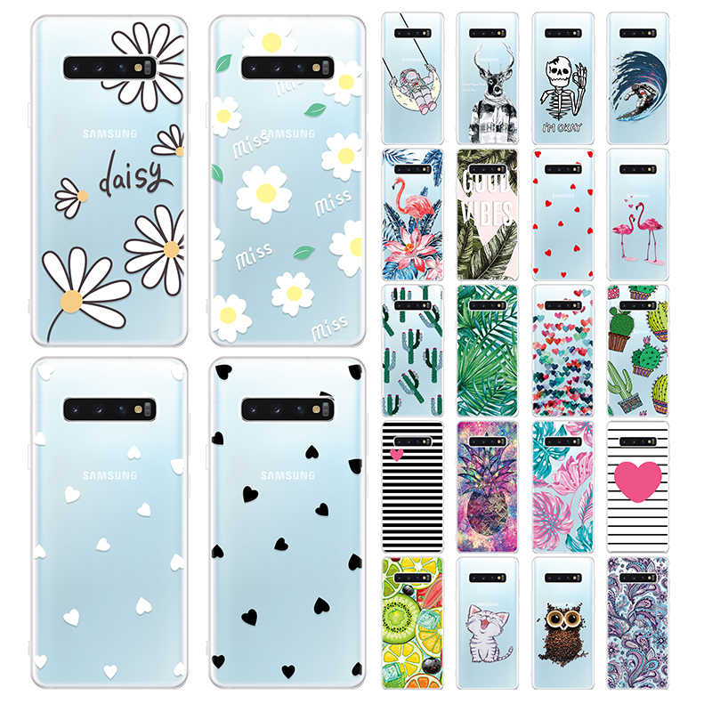 Silicone TPU Case For Samsung Galaxy Note 8 9 J6 J4 A8 2018 S10E S10 S9 S8 S7 Edge Plus Back Cover Cases Soft Cute Pattern Capa