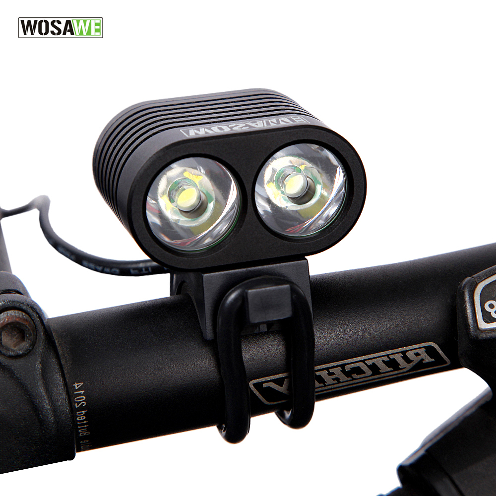 WOSAWE 2400 Lumen T6 LED Cycling Bicycle Bike Light Lamp HeadLight Headlamp Power Bank USB Cable bike accessories bicycle lights