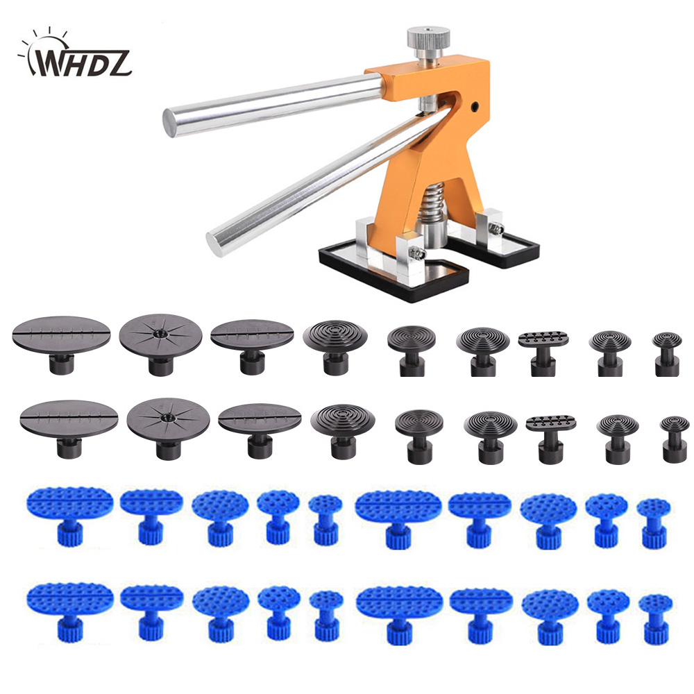 WHDZ PDR Tools Dent Puller Kit Car Paintless Dent Repair Tools Auto Repair Tool Set Glue Tabs Sucker Suction Cup Hand Tools Set  pdr tools for car kit dent lifter glue tabs suction cup hot melt glue sticks paintless dent repair tools hand tools set