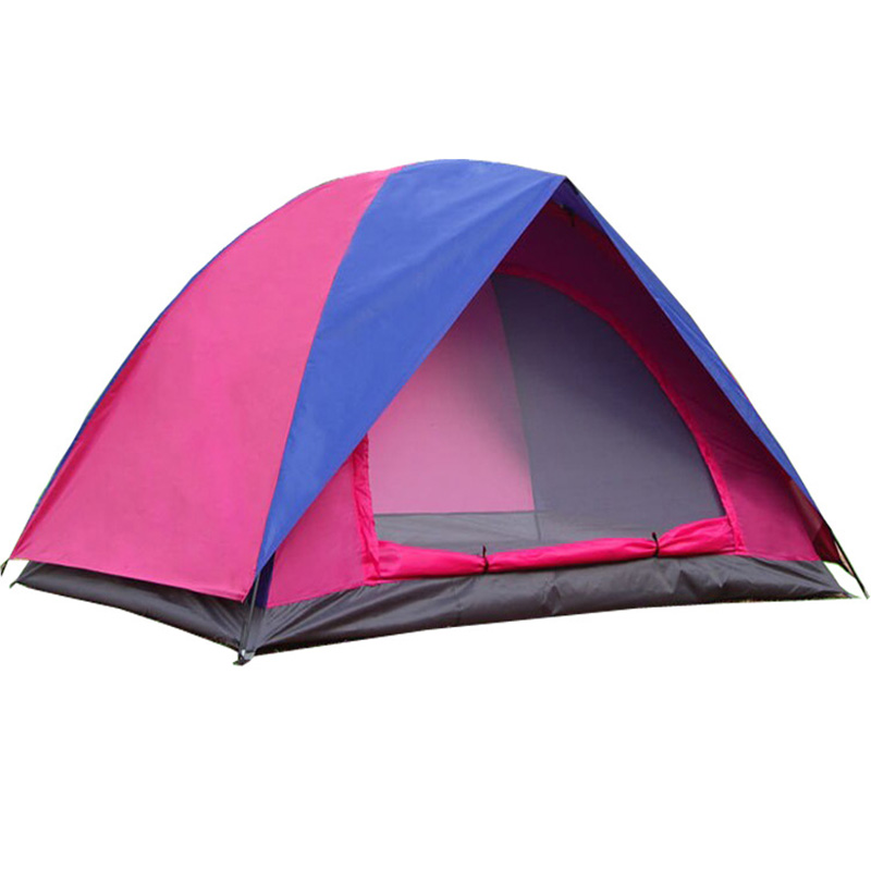 Folding Waterproof Outdoor Camping Tent Double Layers Two People Fiberglass Ultralight Travel Tents Oxford Camp Picnic Tents 3kg ultralight camping tent 2 3person coated with 20d silicon double layers aluminum rod snow mountain keep warm tents