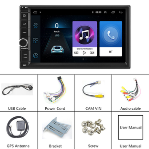 """Image 5 - Podofo 2din 7""""HD car radio Android 8.1 Car Multimedia Player GPS navi WIFI ISO Android Mirrorlink 2Din for Universal car stereo"""