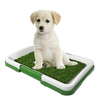 Home Dog Potty Indoor Toilet Grass Mat Pet Antimicrobial Pad Urinary Trainer Mesh Plastic Odour Resistant Outdoor Patch