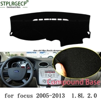 STPLRGECP Double Layer Black Dash Mat For Ford Focus Focus ST Dashmat Black Carpet Car Dashboard