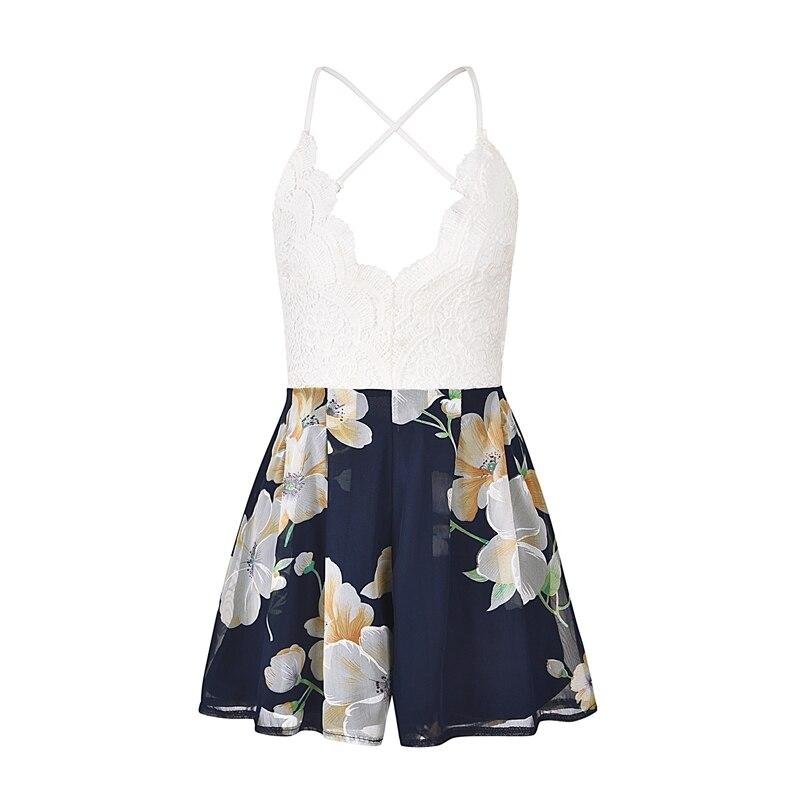 Lace Floral Summer Style Playsuit Jumpsuit