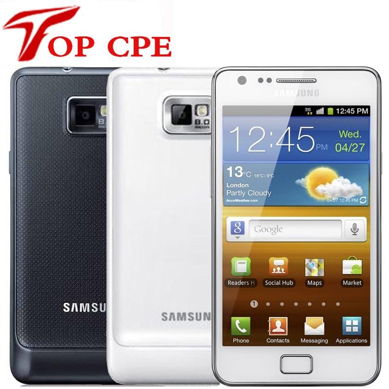 Оригинальный разблокированный б/у сотовый телефон Samsung GALAXY S2 SII I9100(95% Новый) Европейская версия wifi GPS 8.0MP 4,3 ''1 ГБ ОЗУ 16 Гб ПЗУ Android