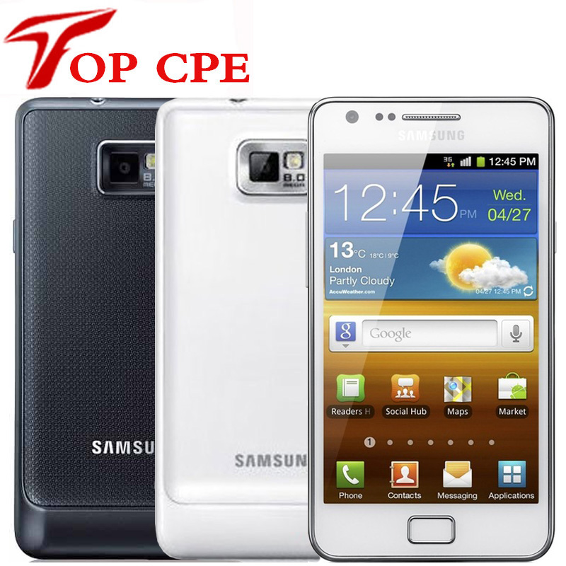 Samsung GALAXY S2 смартфон с 4,3-дюймовым дисплеем, ОЗУ 1 ГБ, ПЗУ 16 ГБ, 8 Мп, Wi-Fi, GPS