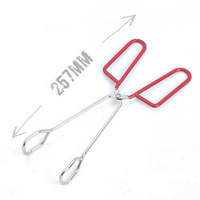 hot sell BBQ Cooking Braed Food Tongs Salad Kitchen Anti Heat Bread Clip Pastry Clamp Barbecue Tongs