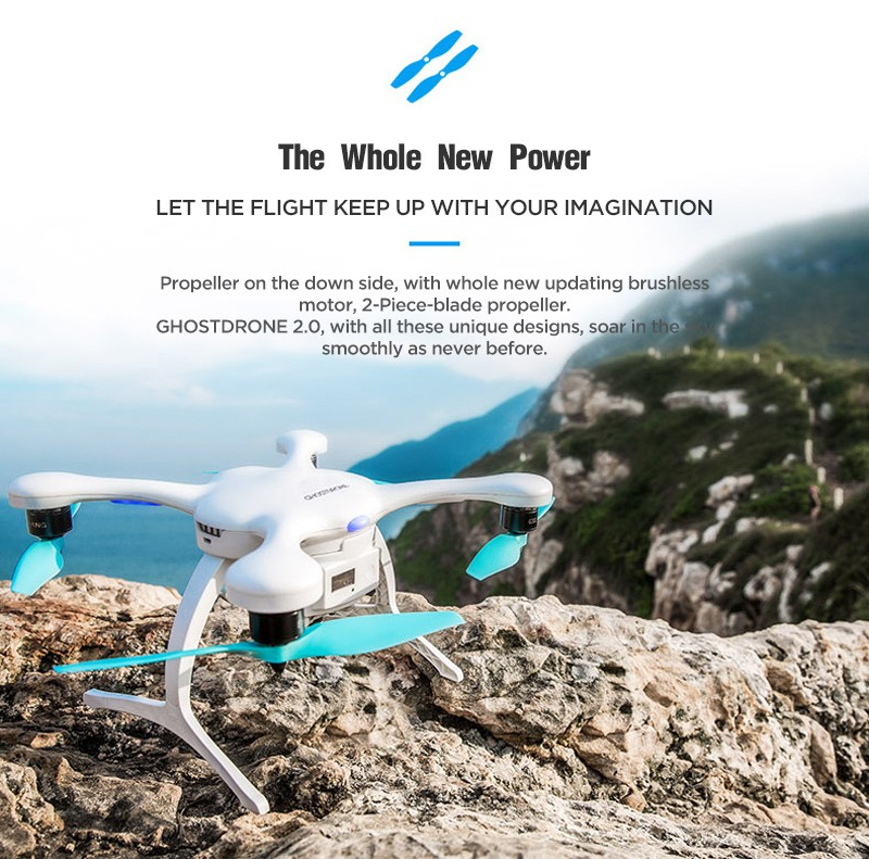 Ehang GHOSTDRONE 2.0 GPS RC Drone Helicopter Quadcopter with 4K Sports camera PK DJI Phantom 3 Yuneec Breeze
