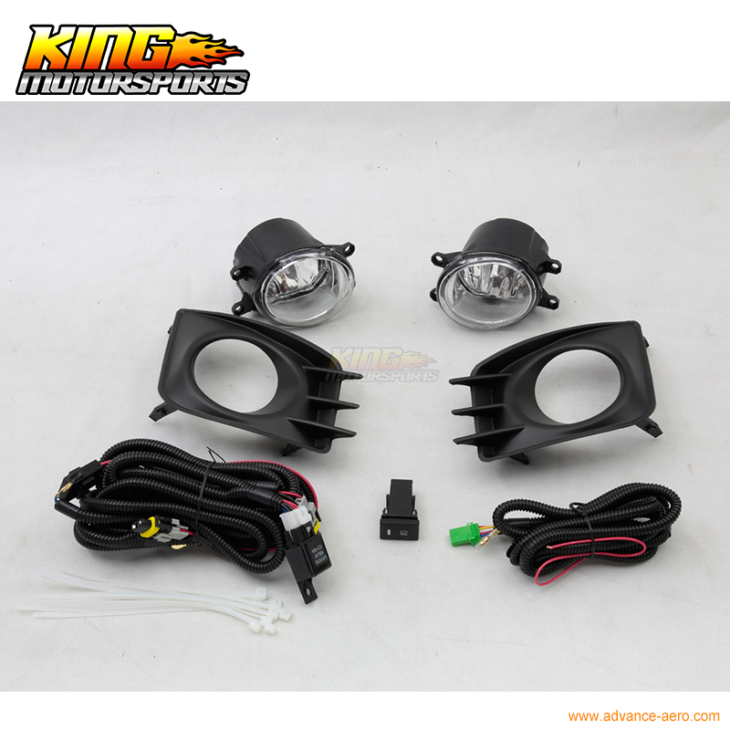 For 2011-2013 Scion TC Clear Lens Running Bumper Fog Lights Lamps + Switch Wiring USA Domestic Free Shipping Hot Selling