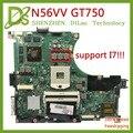 Kefu N56VV материнская плата для ноутбука ASUS N56VM N56VB N56VvV N56VJ N56VZ Материнская плата ноутбука REV2.0 N56VV GT750M 2G поддержка I7 оригинал