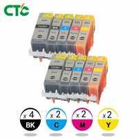 10x cartuchos de tinta PGI 520 CLI 521 para Canon PIXMA iP3600 4600, 4700 MP, 540, 550, 560, 620, 630, 640 impresora 980 MX860 con chip