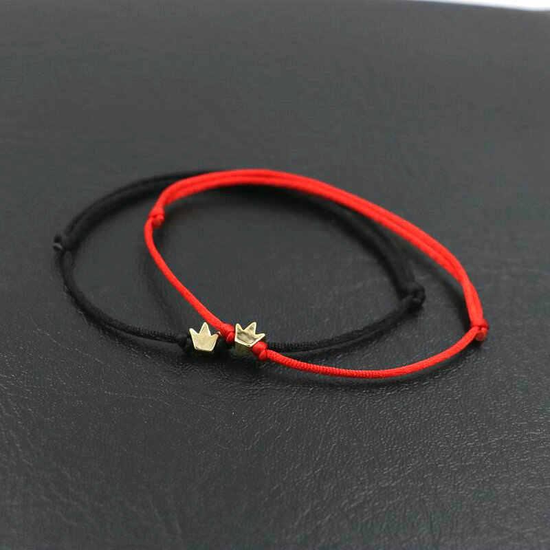 ファッションラッキー銅フラワーチャームブレスレット薄型赤ロープ糸列編組チャクラのブレスレット男性の女性のギフト