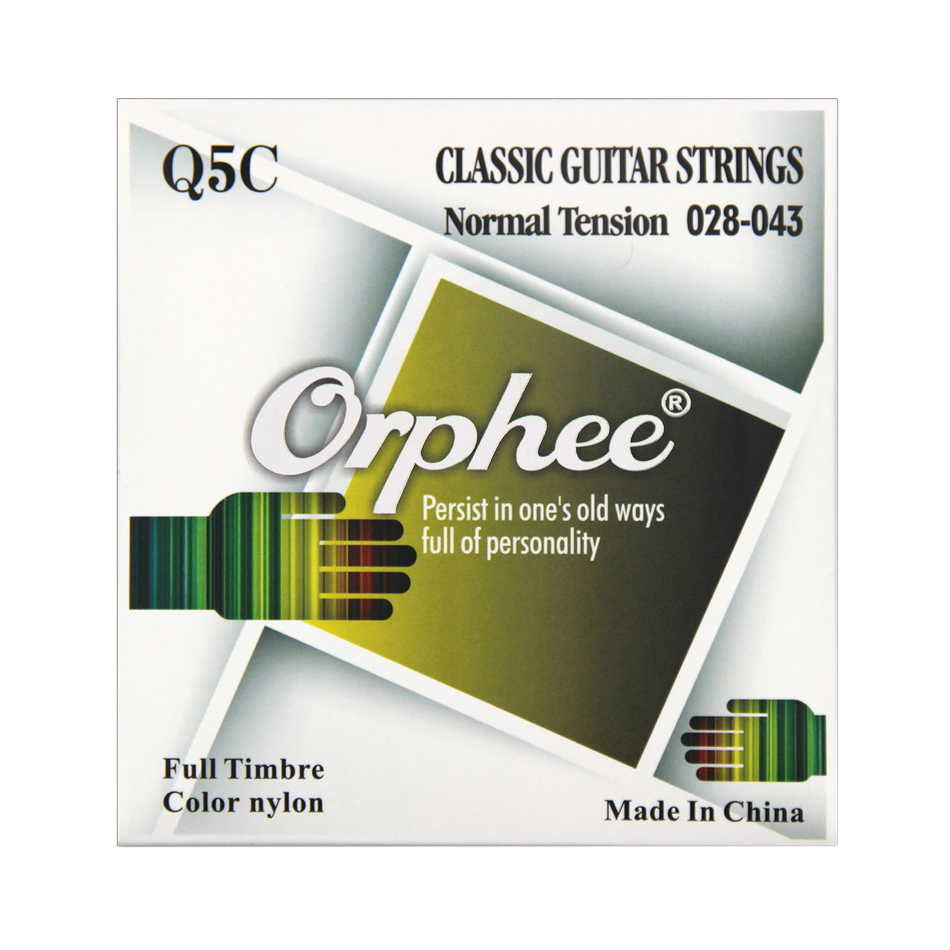 Orphee Q5C Black Nylon Classical Guitar Strings Set Black Nylon Pure Copper Wound Classic Guitarra Stings Accessory classical guitar strings set cgn10 classic nylon silver plated normal tension 028 045 classical guitar strings 6strings set