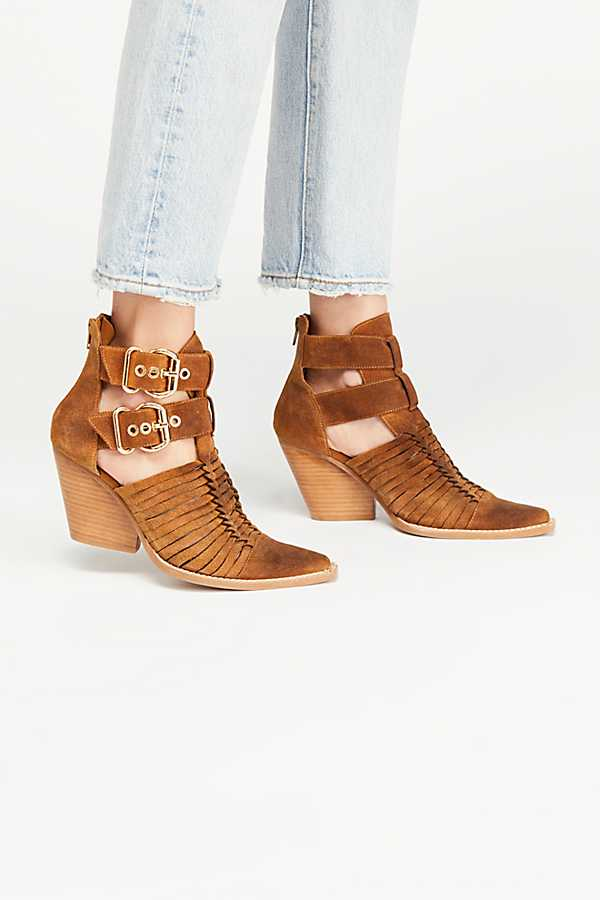 Abesire 2019 New Women Cut-outs Chunky Heels Gladiator Sandals Boots Lady Pointed Toe Buckle Strap Ankle Boots Girls Flock ShoesAbesire 2019 New Women Cut-outs Chunky Heels Gladiator Sandals Boots Lady Pointed Toe Buckle Strap Ankle Boots Girls Flock Shoes