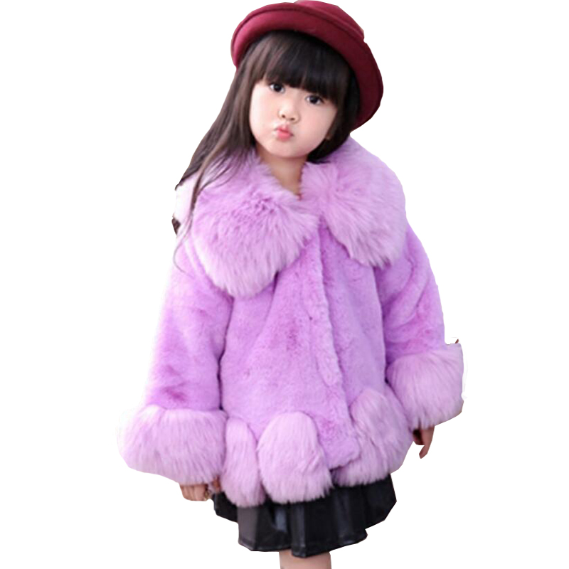 2017 New Children Real Rabbit Fur Coat Kids Girls Winter Warm Solid Natural 100% Rabbit Fur Coat Baby Down Jacket for Girls 5 colors 2017 new long fur coat parka winter jacket women corduroy big real raccoon fur collar warm natural fox fur liner