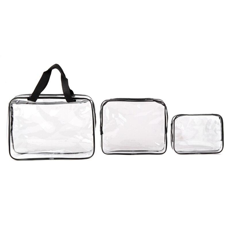Environmental Protection PVC Transparent Cosmetic Bag Women Travel Make Up Toiletry Bags Makeup Handbag Organizer Case