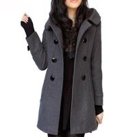 Autumn Women Coats Winter 2019 Hooded Woolen Cashmere Cotton Coats and Jackets Women Casual Slim Plus Size Wool Blends Long Coat