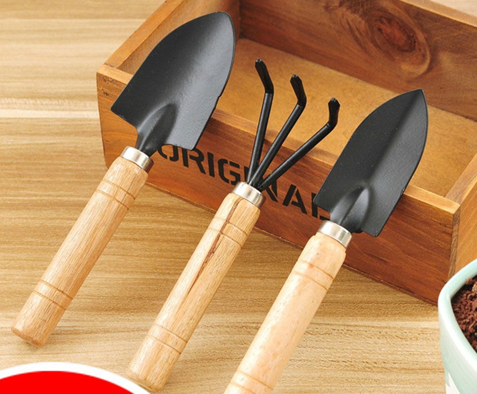 Mini garden tool set gardening shovels spade rale with for Gardening tools 6 letters