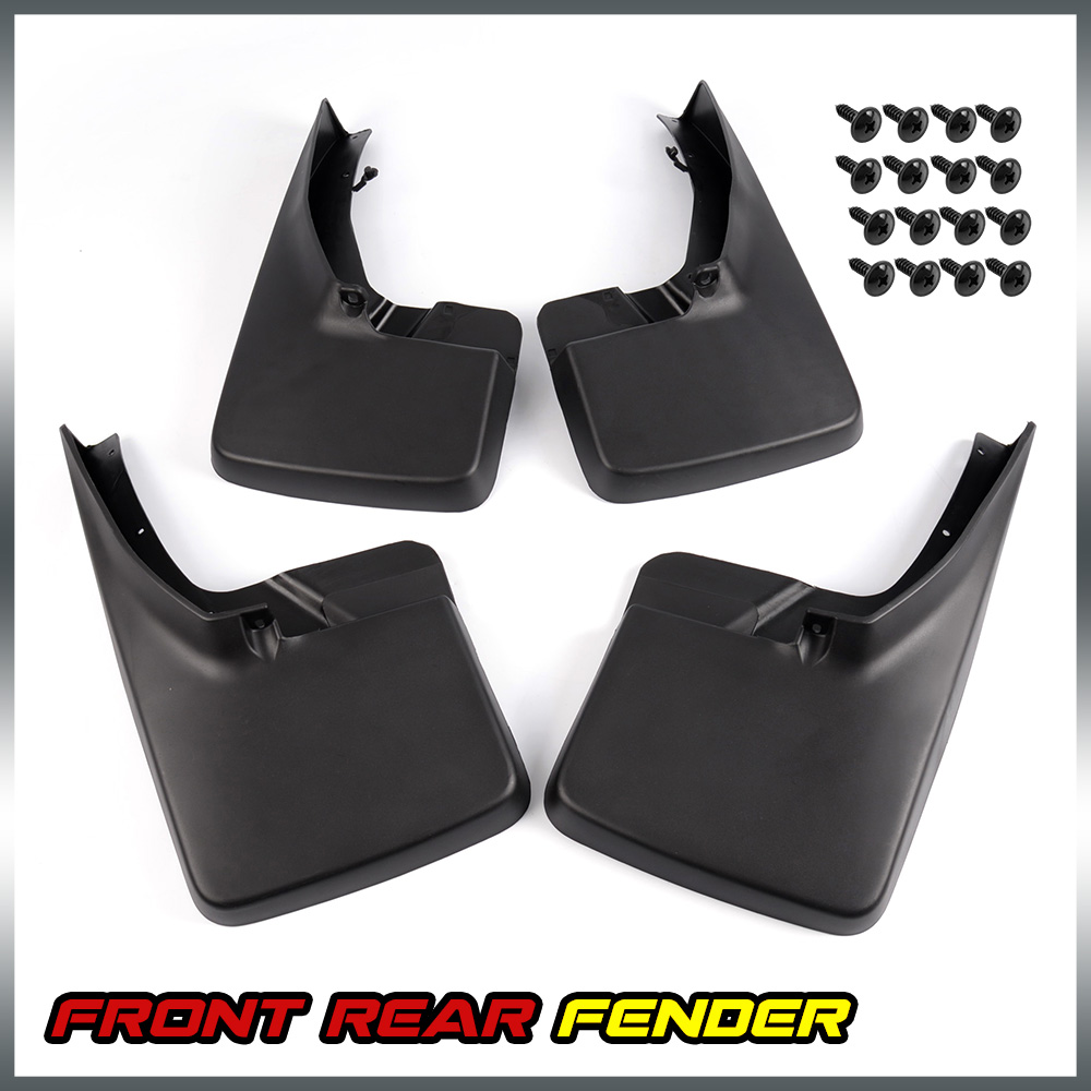 4PCS Black For DODGE RAM 1500 2500 3500 2009 - 2015 2016 Splash Guards Mud Flaps