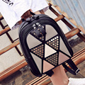 New Arrive 2016 Women bags Fashion All-match Backpack Lady PU Leather Shoulder Bag Casual Travel Small School Bag For Girls