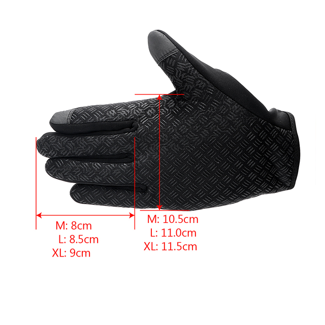 1 Pair Top Selling Motorcycle Gloves Riding Glove Ski Gloves Touch Screen Windstopper Warm Full Finger For Winter Sport 5