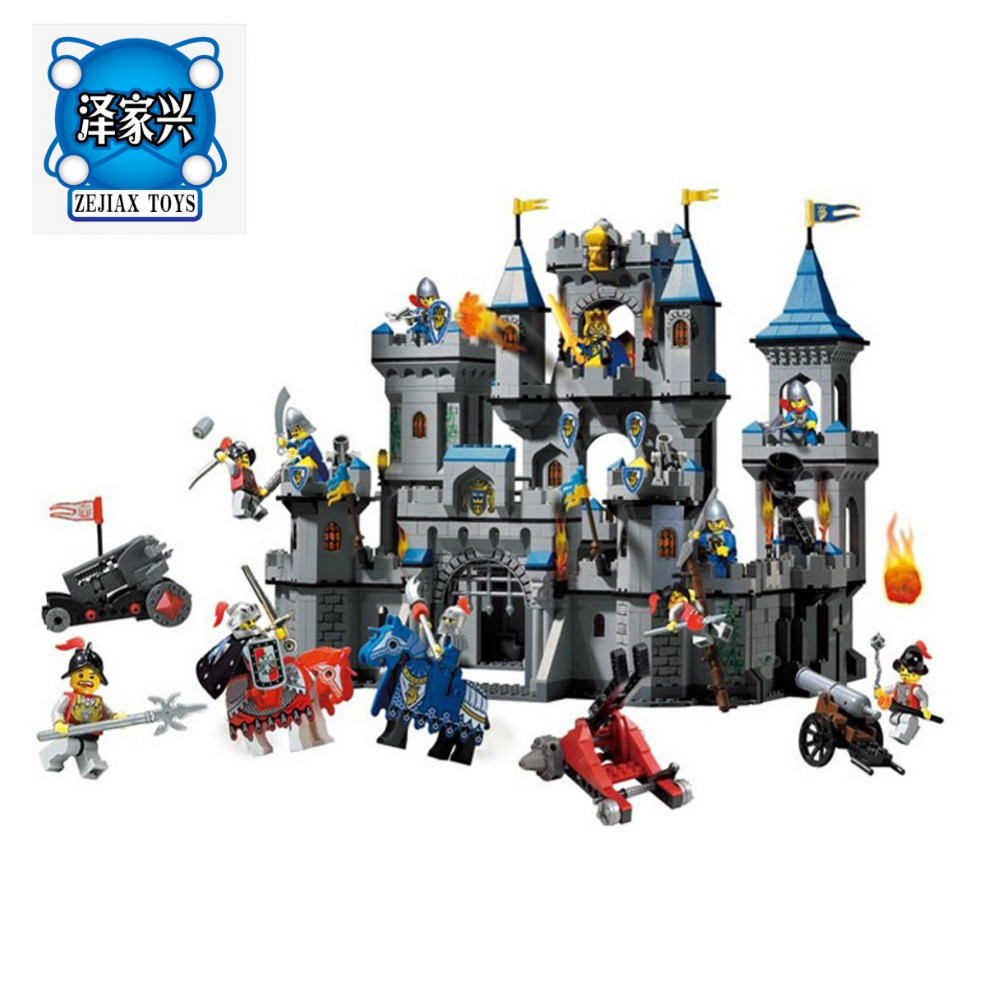 Enlighten Building Block Castle Knights Large Lion Castle 11 Figures 1393pcs Educational Bricks Toy Boy Gift Compatible Lepins enlighten new 2315 656pcs war of glory castle knights the sliver hawk castle 6 figures building block brick toys for children