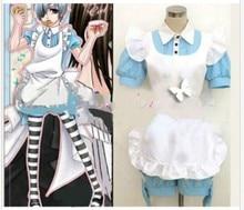 AnimeBlack Butler Alice Ciel Phantomhive Alois Trancy Maid Clothes with socks font b Cosplay b font