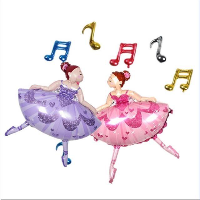 Globos De Papel Bailarina Ballet Chica Mylar Globo Para Feliz