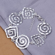 2016 Hot Silver Color Jewelry bracelet, silver plated wristlet vintage-accessories /UNQNAIKI GJFZXLIQI