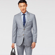 cheap wedding tuxedos for groom suit light gray custom made suits classic formal wear 2017 men suit