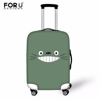 1812c31d1 FORUDESIGNS Totoro equipaje cubierta protectora de maletas cubre de dibujos  animados equipaje cubre accesorio bolsas de viaje cubierta de la Caja