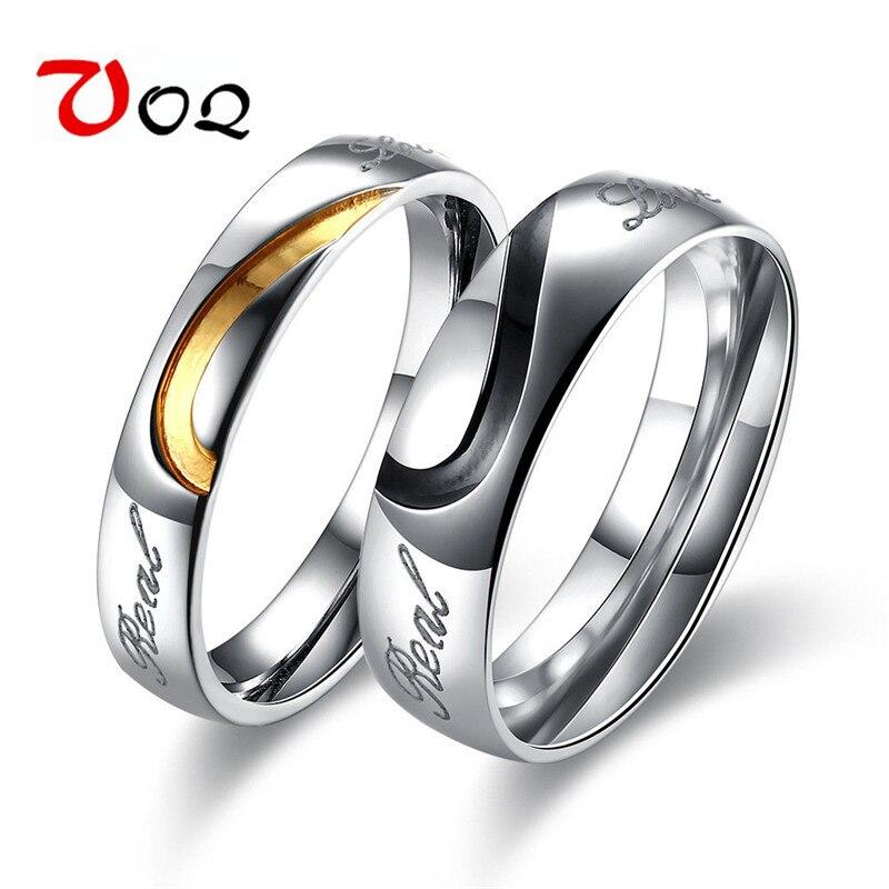 2017 Mode Vintage Ring Paar Hochzeit Engagement Edelstahl Weiblich Männlich Finger Anel Voq125