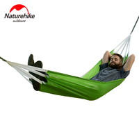 Brand Naturehike Single Double Picnic Hammock Portable Camping Hammock Parachute Fabric Hanging Bed Sleeping Camping Hammocks