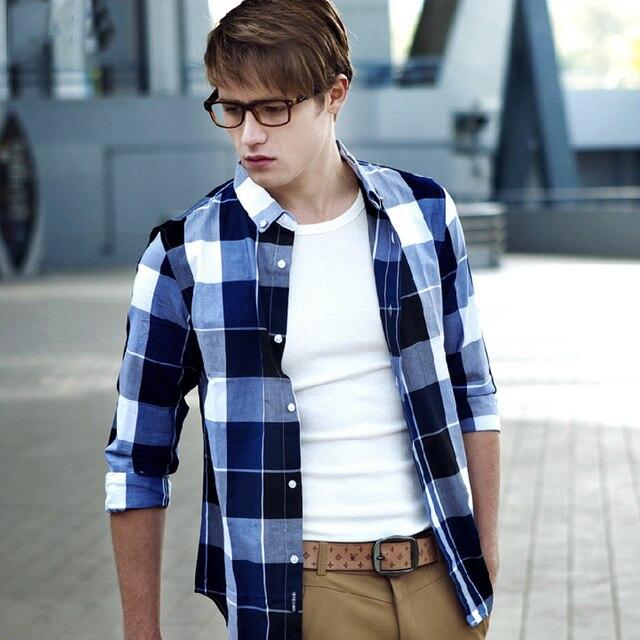 Shirt long sleeve winter men items cotton dress fashion dress mens casual slim fit stylish long sleeves shirts russian T029