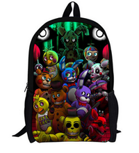 16 Inch Five Nights At Freddy Kids Backpacks Customized Mochila Feminina Orthopedic Children Travel Bag School Bag Teenage Gift