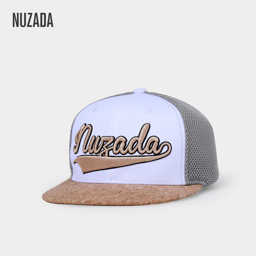 NUZADA Brand Original Design Men Women Couple Hip Hop Cap Cotton Embroidery Spring Summer Breathable Mesh Wood Material Caps