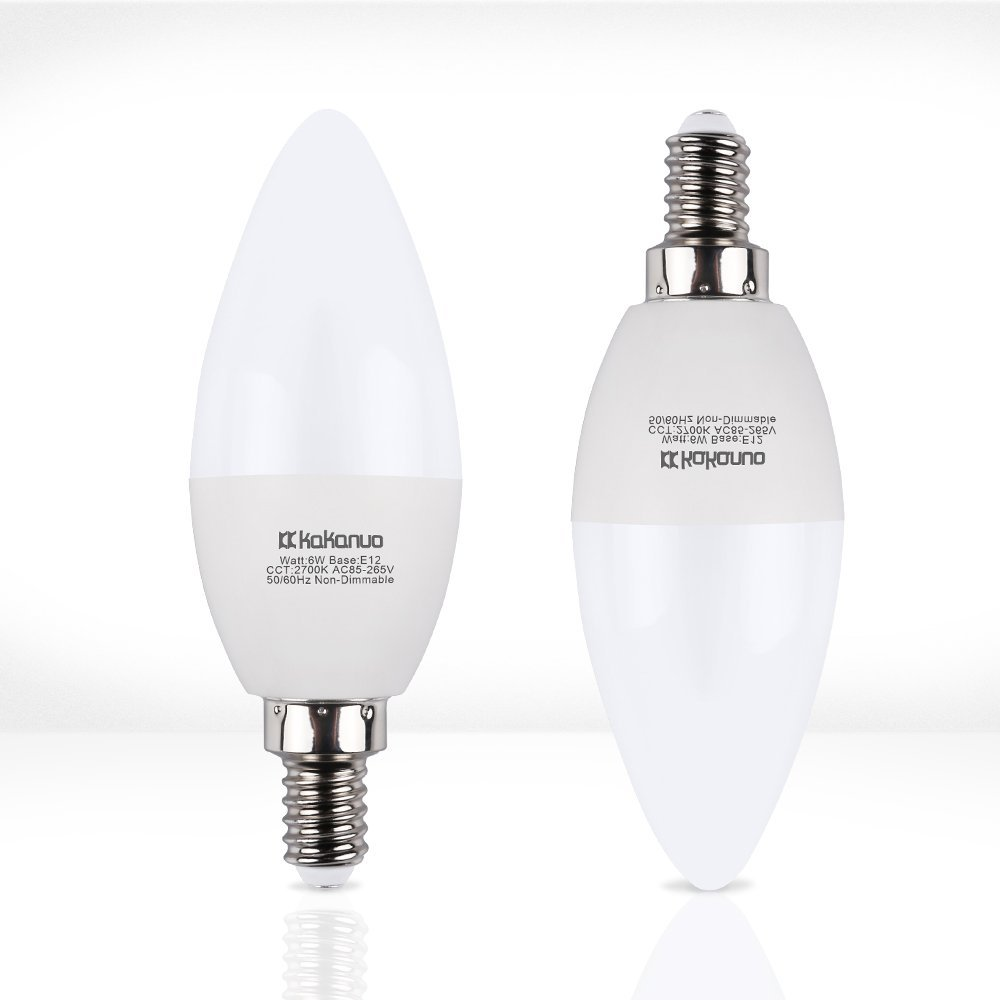 60w Led Candelabra Bulbs: Candelabra LED Bulbs Kakanuo E12 LED BULB 60W Equivalent Non Dimmable Chandelier Bulbs,Warm