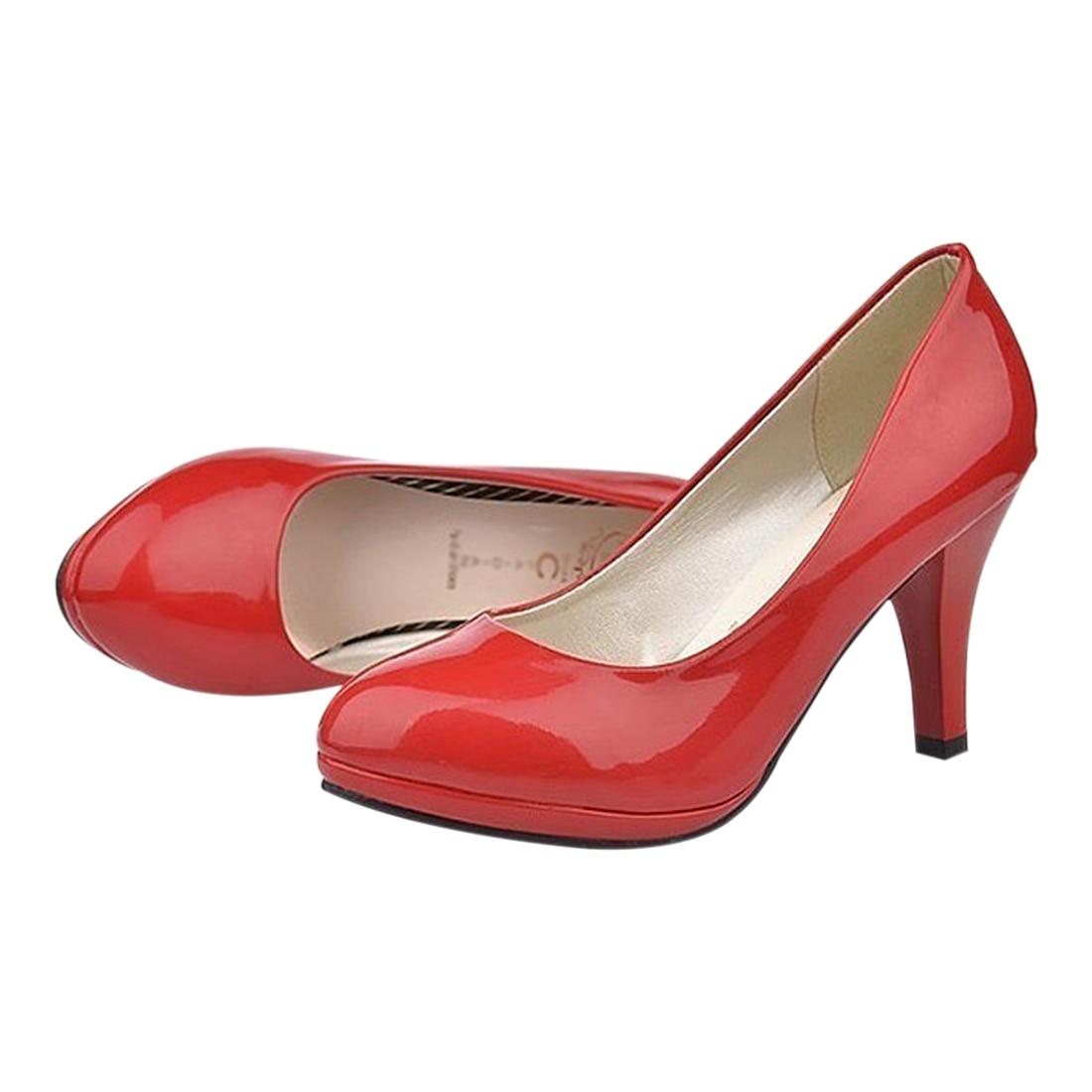 ABDB Classic Sexy Office Lady Round Toe Platform Low Heels Women Wedding Pumps Shoes