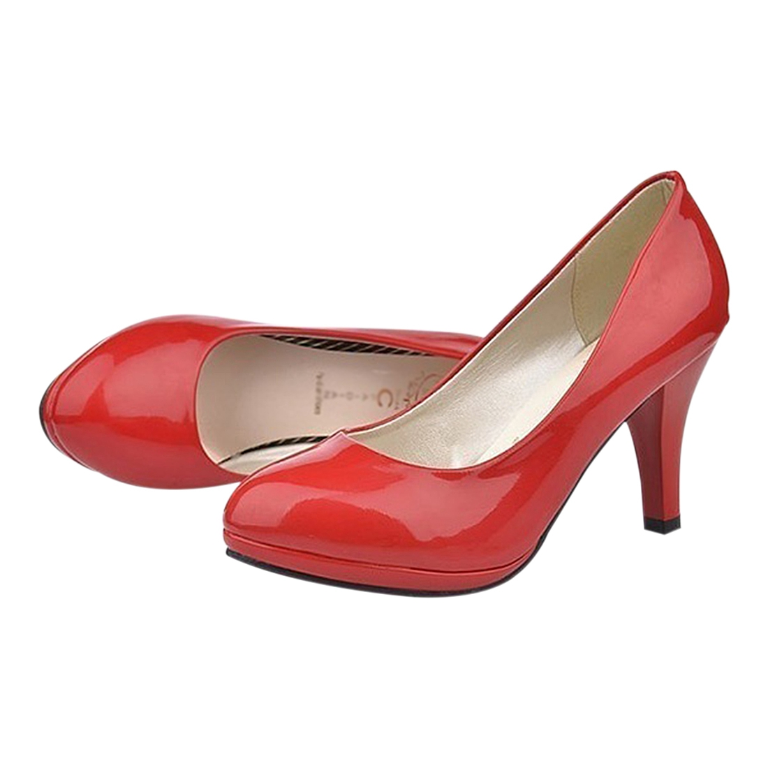 ASDS Classic Sexy Office Lady Round Toe Platform Low Heels Women Wedding Pumps Shoes