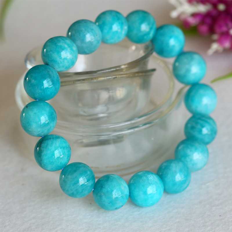 High Quality Natural Genuine Blue Green Amazonite Smooth Round Finished Stretch Mens Bracelets Big Beads 13mm High Quality Natural Genuine Blue Green Amazonite Smooth Round Finished Stretch Mens Bracelets Big Beads 13mm