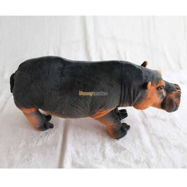 Fancytrader New Arrival 43'' / 110cm Super Funny large Stuffed Soft Plush Emulational Hippo Toy, Free Shipping FT50618
